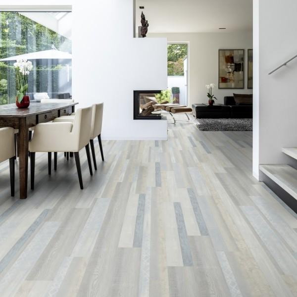 TER HÜRNE Design-Vinylboden Eiche Vancouver grau Mehrstab F06 | Pure Choice Comfort