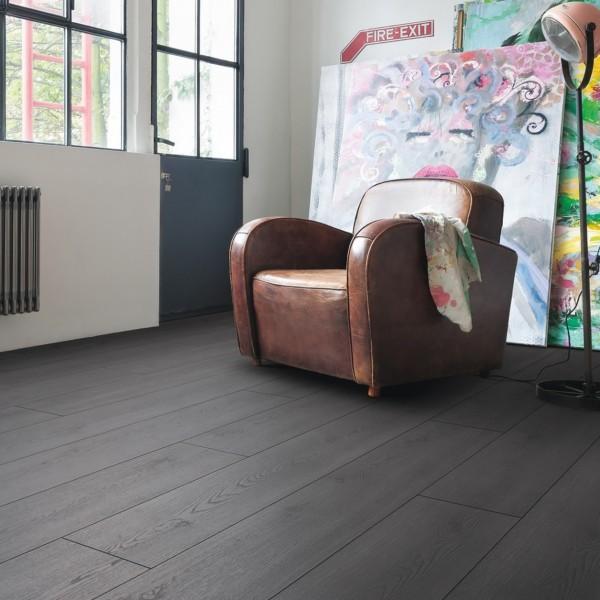 Laminat Eiche Contura schwarz Landhausdiele | HARO Tritty 100 Gran Via