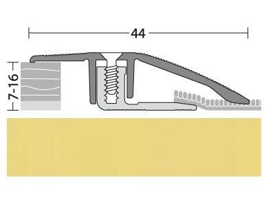 Anpassungsprofil Aluminium Gold 90 cm