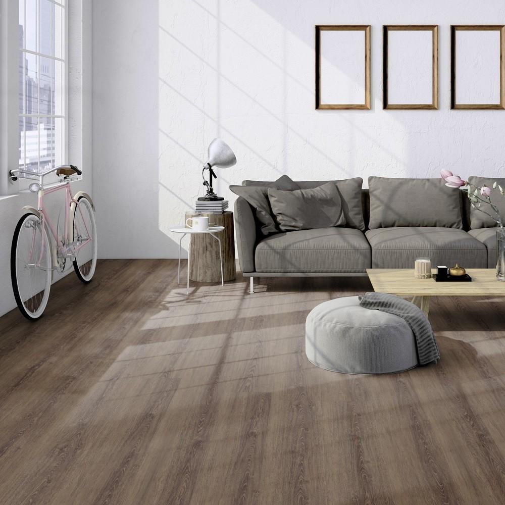 TER HÜRNE Design-Vinylboden Eiche Bogota dunkelbraun Lange LHD I07 | Straight Choice Perform | 37 m²