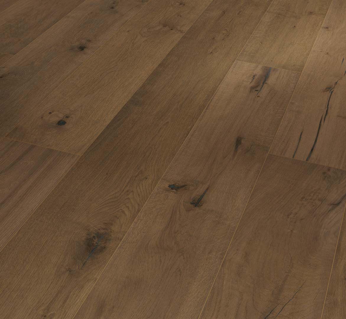 PARADOR Parkett Eiche smoked grey handscraped Landhausdiele 4-seitige Fase | Trendtime 8 | 35 m²