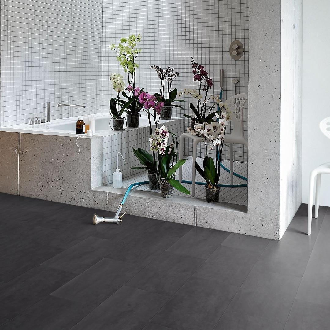 PARADOR Vinyl Schiefer nachtschwarz Steinstruktur   Basic 5.50   18 m²