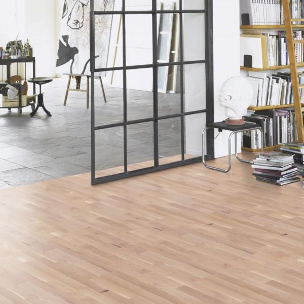 PARADOR Parkett Eiche Schiffsboden 3-Stab naturgeölt weiß | Basic 11-5 | 19 m²