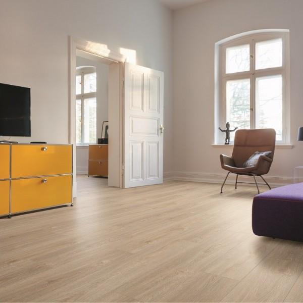 HARO Designboden Kalkeiche natur Landhausdiele 4-seitige V-Fase | Living