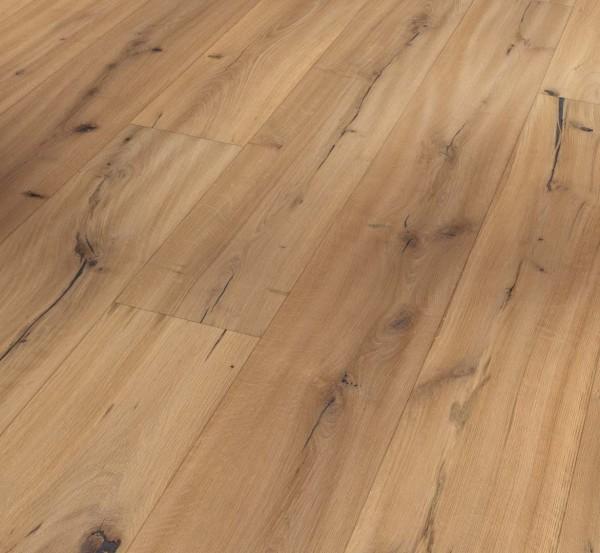 PARADOR Parkett Eiche handscraped naturgeölt weiß Landhausdiele 4-seitige Fase | Trendtime 8