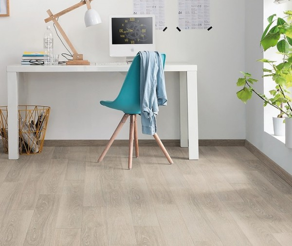 Laminat Eiche weiss gekalkt authentic Landhausdiele | HARO TRITTY 100 Loft