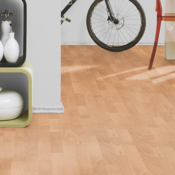 EASY STEP Laminat Buche Schiffsboden 3-Stab | 2.Wahl | 23 m²