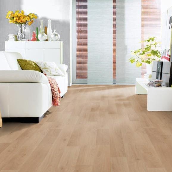 HARO Laminat Eiche hell strukturiert matt 2-Stab | Living | 43 m²