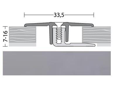 Übergangsprofil Aluminium Edelstahl 100 cm