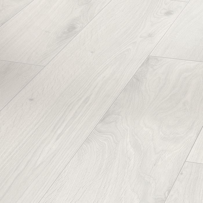 PARADOR Laminat Eiche kristallweiß Landhausdiele Holzstruktur 4-seitige Mini-V-Fuge | Click In
