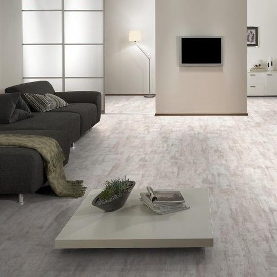 Laminat Kronospan Scraped White Landhausdiele mit V-Fuge: 15,0 m²
