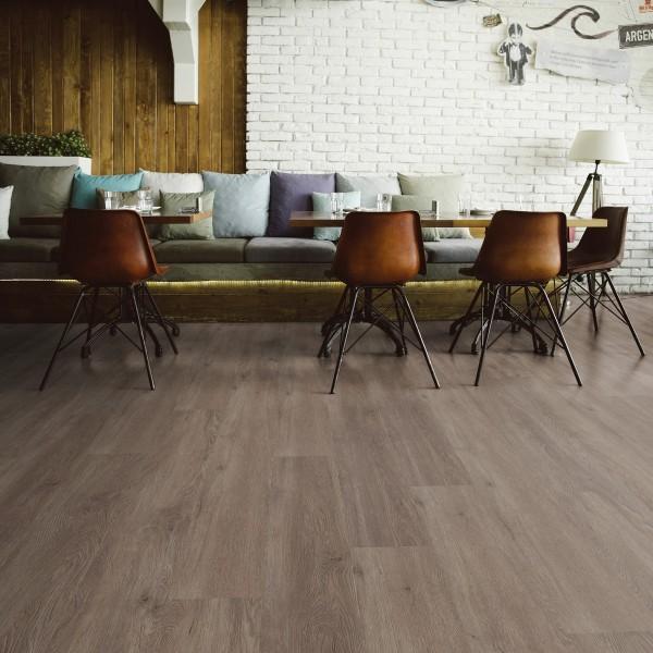 TER HÜRNE Design-Vinylboden Eiche Canberra graubraun Landhausdiele I06 | Straight Choice Comfort