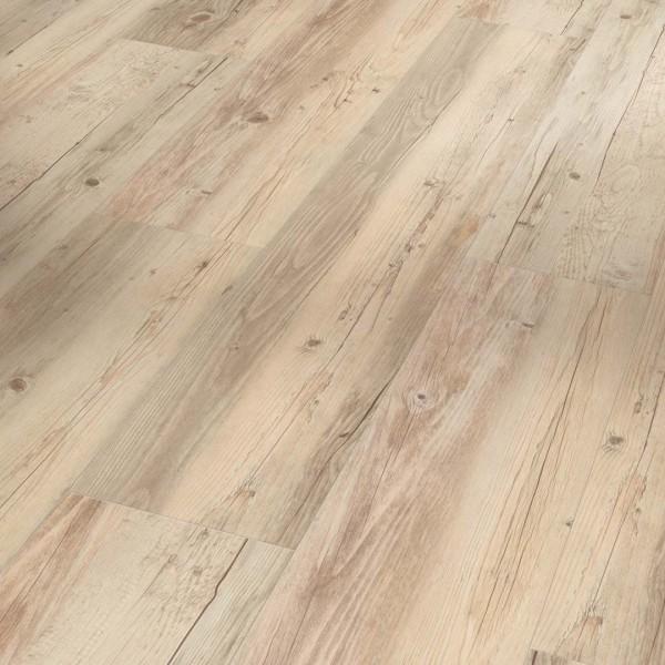 PARADOR Vinylboden Pinie weiß geölt Landhausdiele Sägeraue Struktur | Classic 2050