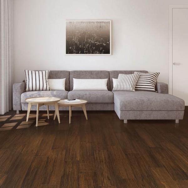 POWER FLOOR Parkett Bambus Life Nussbaum handgehobelt mattlackiert | 7 m²