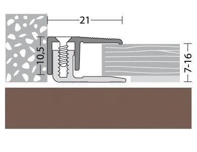 Abschlußprofil Aluminium Bronce 100 cm