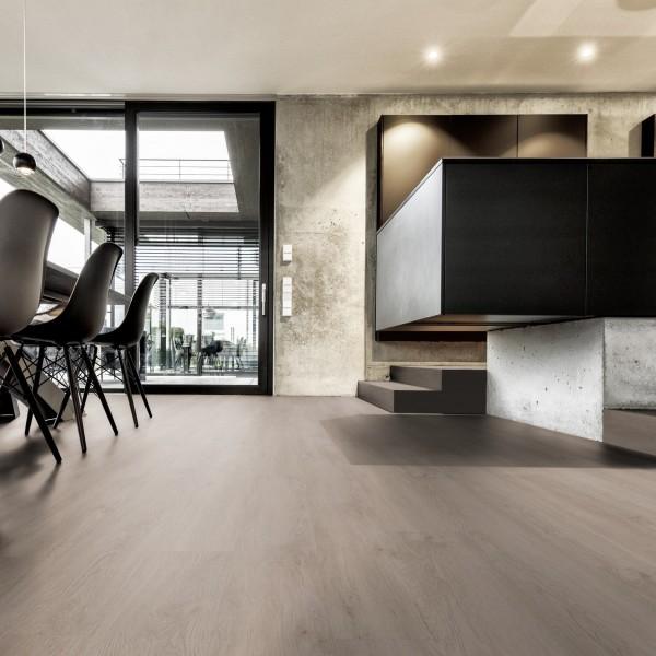 TER HÜRNE Design-Vinylboden Eiche Oslo braun Landhausdiele F07 | Pure Choice Comfort