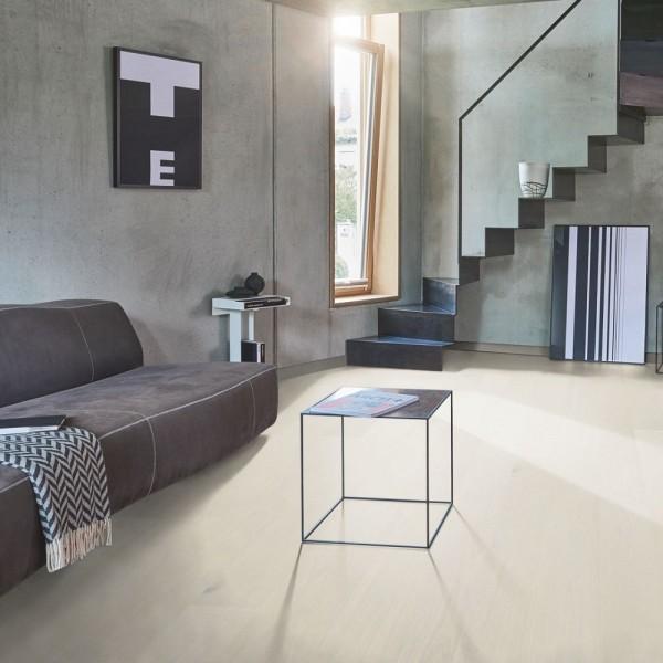 Parkett Eiche perlmutt Landhausdiele lackversiegelt matt 4-seitige Minifase | PARADOR Trendtime 4