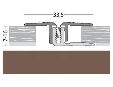Übergangsprofil Aluminium Bronce 90 cm
