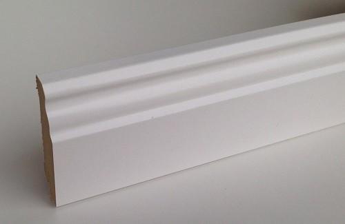 BELLFLOOR Dortmunder Profil Sockelleiste SL 70 Weiß 18 x 70 x 2380 mm