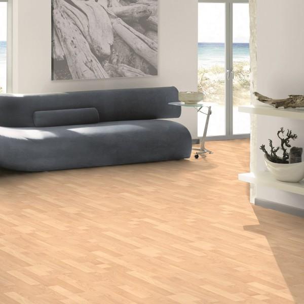 TER HÜRNE Laminat Ahorn sandbeige Schiffsboden 3-Stab | Vitality Line