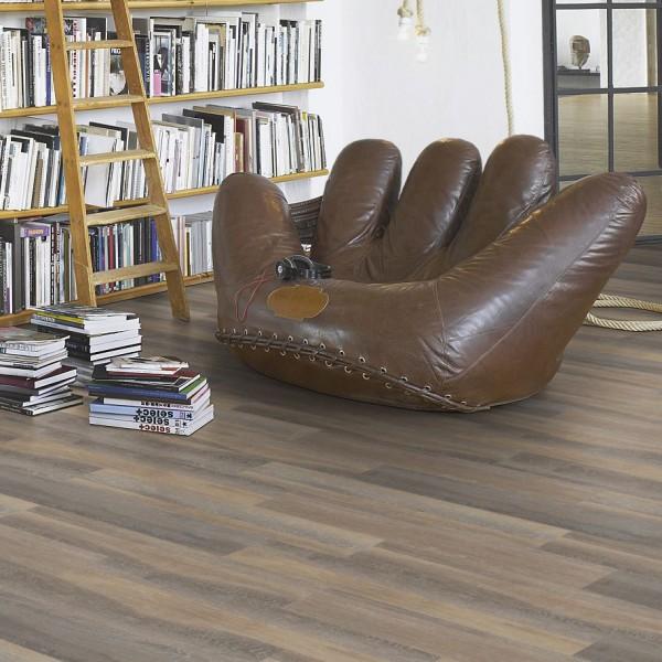 PARADOR Vinylboden Eiche lichtgrau Landhausdiele Gebürstete Struktur | Basic 50 | 8 m²