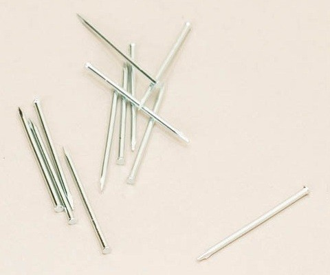 Sockelleistenstifte Stahl verzinkt 35 mm: 100 Stück