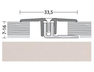 Übergangsprofil Aluminium Silber 100 cm