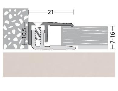 Abschlußprofil Aluminium Silber 100 cm