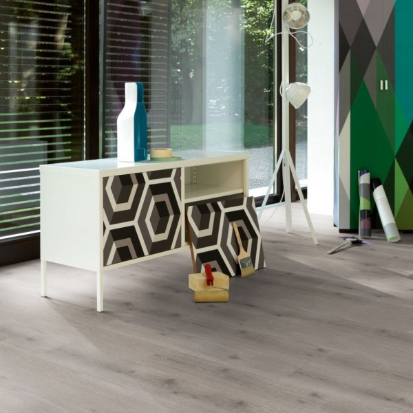 PARADOR Vinylboden Eiche Urban grau gekälkt Landhausdiele 4-seitige Fase | Modular ONE