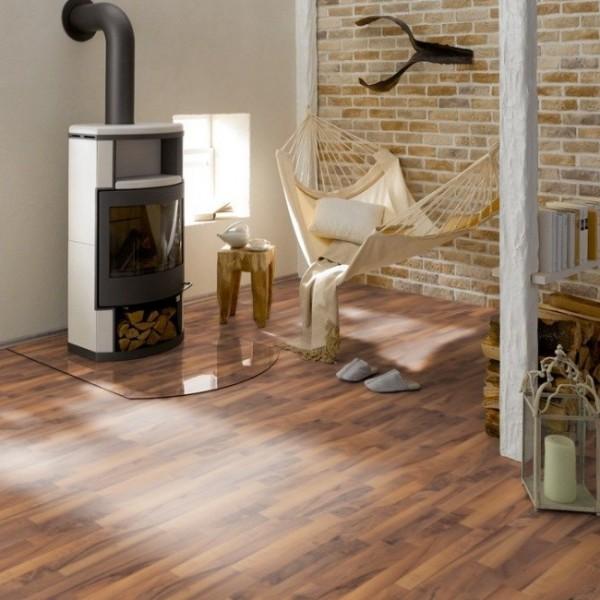 laminat picofloor nussbaum montreal mit d mmung und leisten. Black Bedroom Furniture Sets. Home Design Ideas