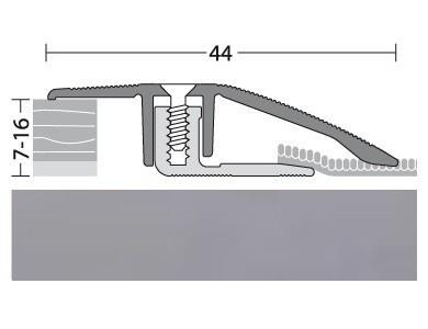 Anpassungsprofil Aluminium Edelstahl 100 cm