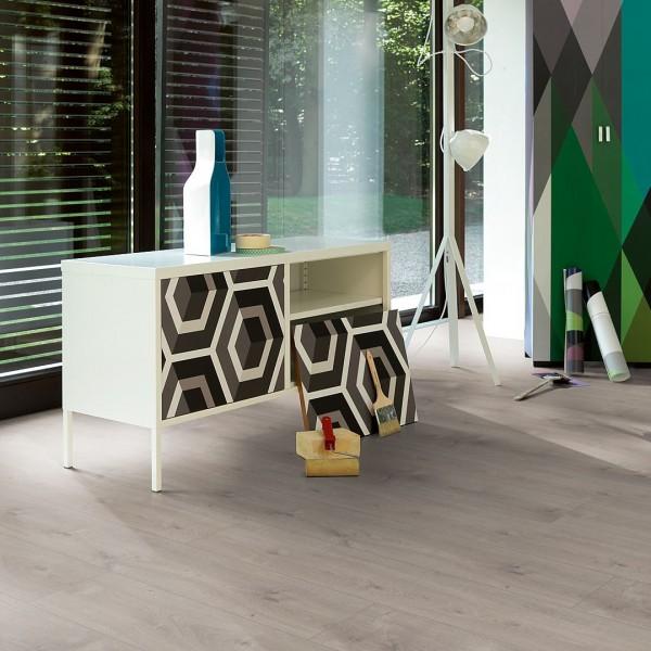 PARADOR Laminat Eiche Mistral grau Landhausdiele 4-seitige V-Fuge | Click In | 27 m²