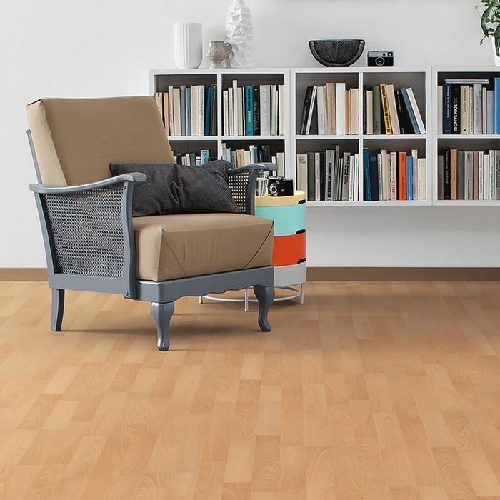 HARO Laminat Buche beige Pore Schiffsboden 3-Stab | Tritty 75 Silent Pro | 12 m²