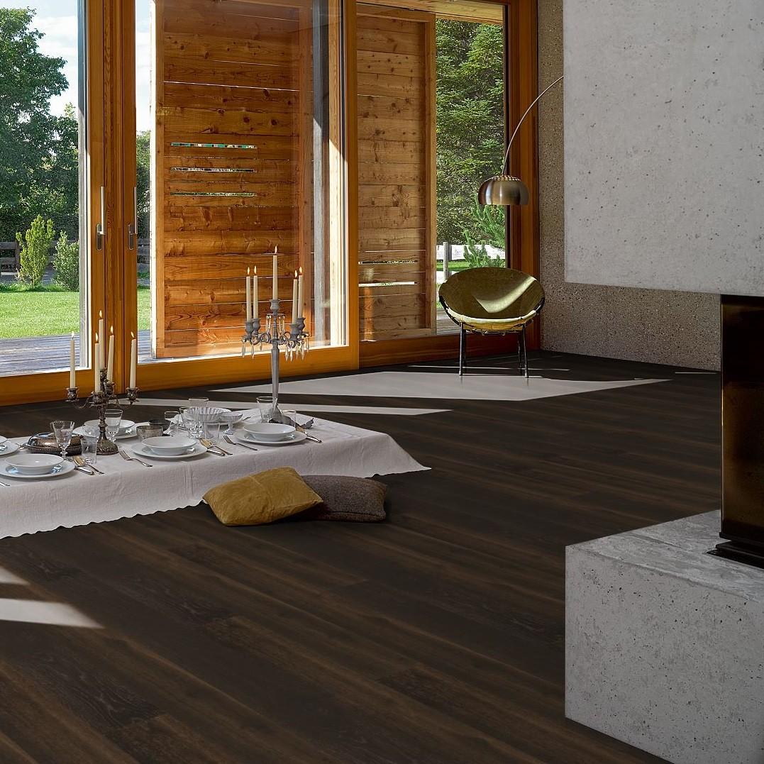 PARADOR Parkett Eiche gebürstet light brown Landhausdiele umlaufende Minifase | Eco Balance | 28 m²