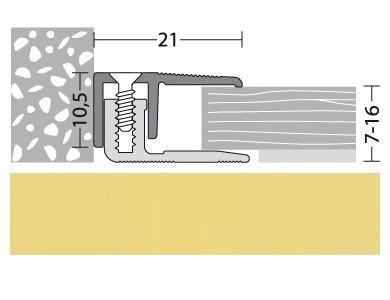 Abschlußprofil Aluminium Gold 90 cm