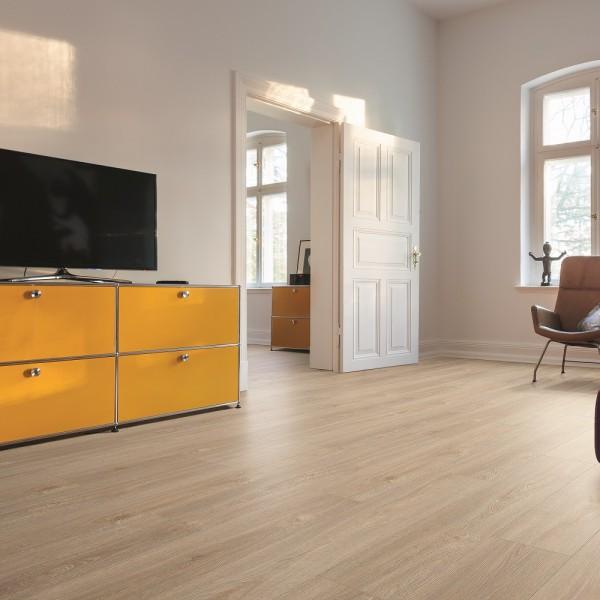 HARO Vinylboden Kalkeiche hell Landhausdiele 4-seitige V-Fase | HydroStar