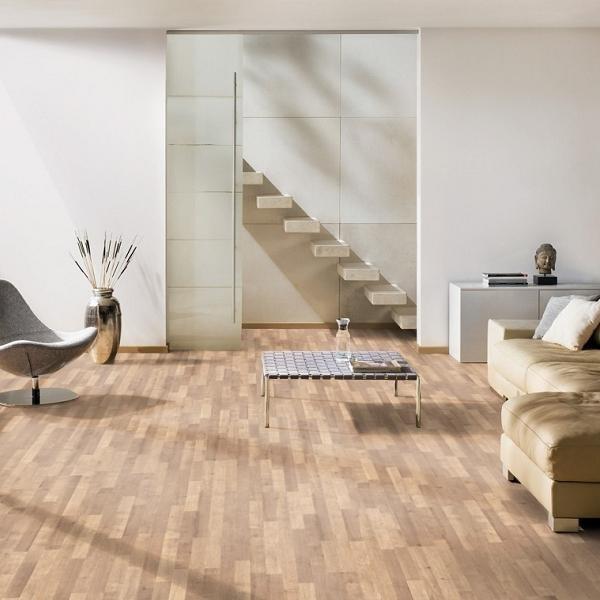 TER HÜRNE Laminat Eiche sierrabraun Schiffsboden 3-Stab | Vitality Line AkusTec | 26 m²