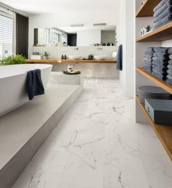 HARO Vinylboden 4V Marmor weiß Steinstruktur | DISANO SmartAqua | Sonderedition