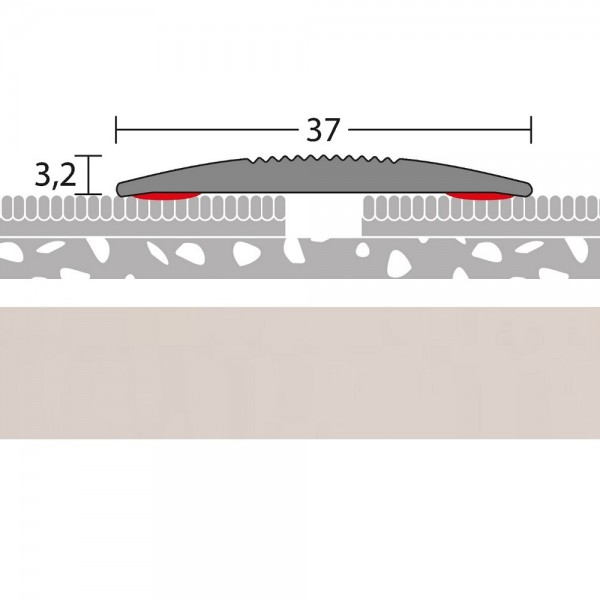 Übergangsprofil selbstklebend Silber 100 cm | PRINZ Quick Fix