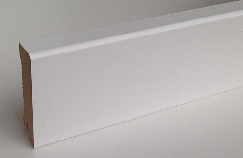 BELLFLOOR Bremer Profil Sockelleiste SL 70 Weiß 18 x 70 x 2380 mm
