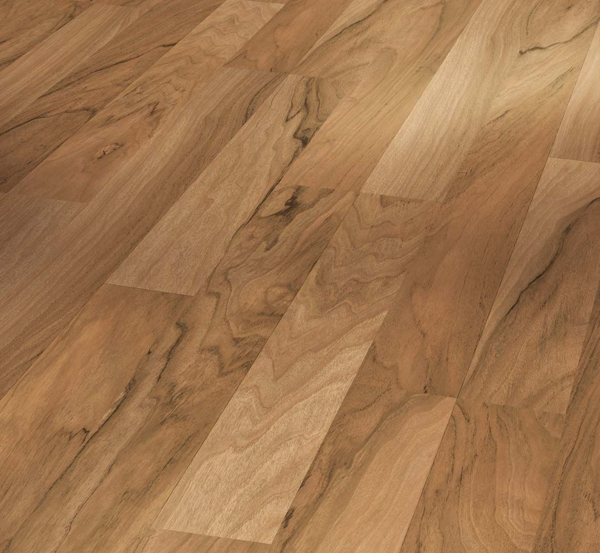 PARADOR Laminat Nussbaum Schiffsboden 2-Stab Holzstruktur | Basic 200 | 23 m²