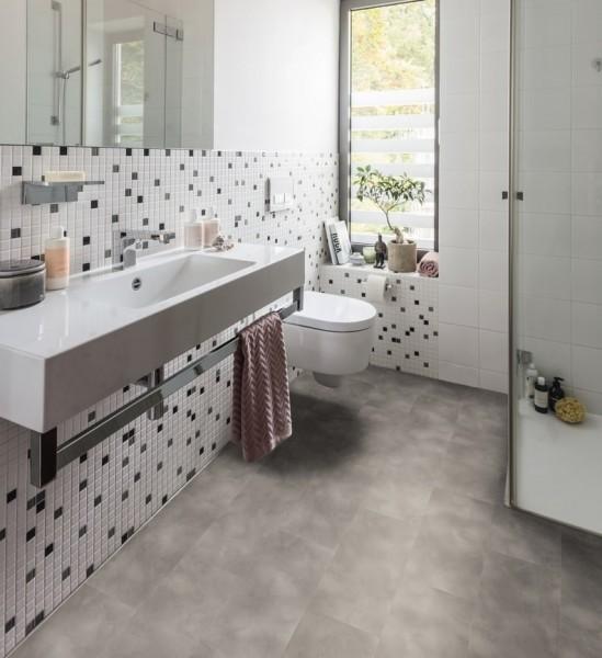 HARO Designboden 4V Beton grau Steinstruktur | DISANO SmartAqua | Sonderedition