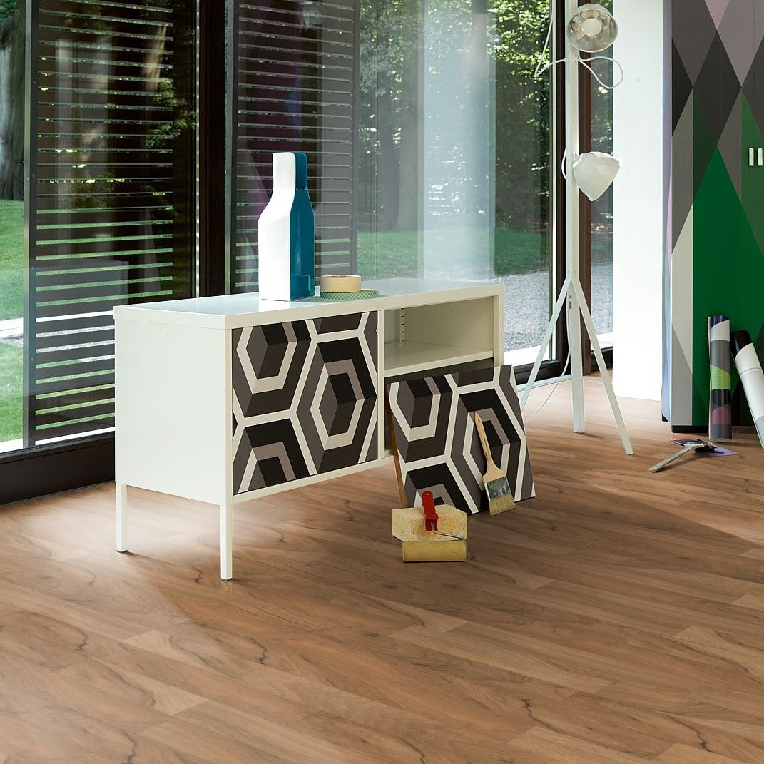 PARADOR Laminat Nussbaum Schiffsboden 2-Stab Holzstruktur | Basic 200