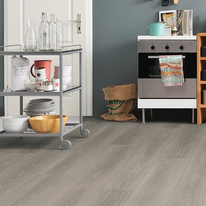Laminat Eiche antikgrau authentic Landhausdiele | Tritty 100 Gran Via | 2.Wahl | 17,5 m²
