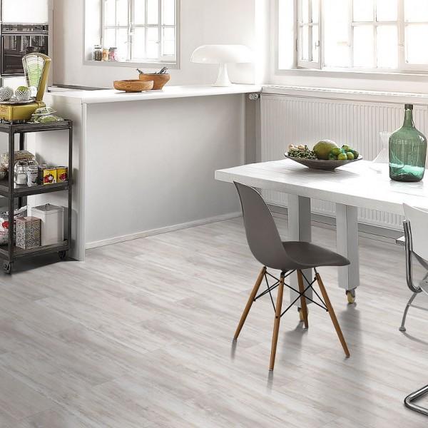 PARADOR Vinylboden Pinie skandinavisch weiß Landhausdiele Gebürstete Struktur | Basic 30 | 12,5 m²