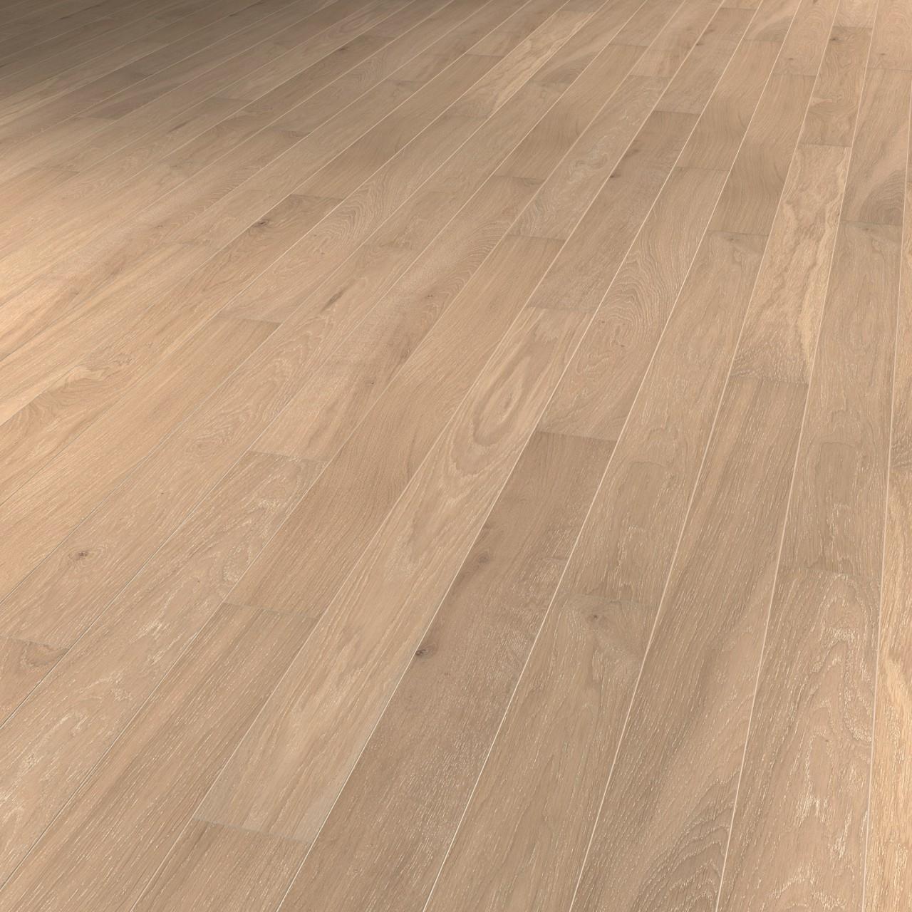 TER HÜRNE Parkett Eiche grauweiß Landhausdiele gekälkt mattlackiert | Pure Collection | 24 m²
