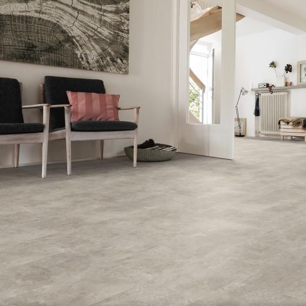HARO Designboden Piazza 4V Sichtbeton greige Steinstruktur | DISANO Classic Aqua