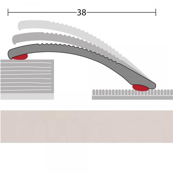 Anpassungsprofil selbstklebend Silber 100 cm | PRINZ Quick Fix