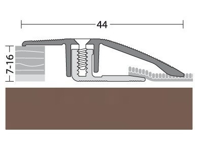 Anpassungsprofil Aluminium Bronce 90 cm