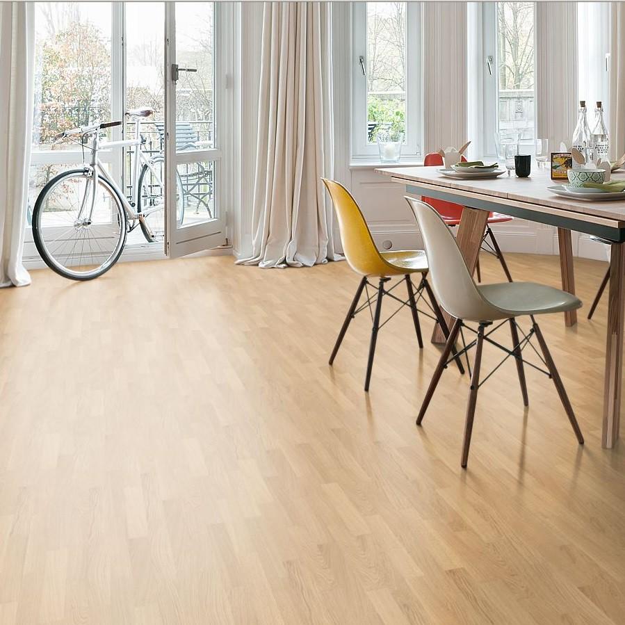 Laminat Buche beige Pore Schiffsboden 3-Stab | Tritty 75 | 30 m²